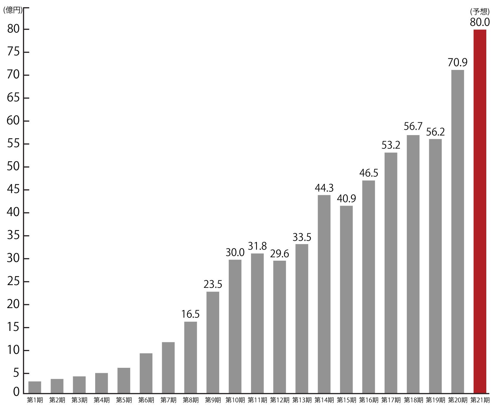 決算報告のグラフ